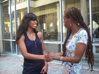 In Charlotte, meeting songstress Kelly Rowland